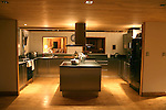 modern kitchen at night