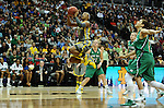 03 APR 2012: Odyssey Sims (0) of Baylor University goes up for a shot  against Notre Dame during the Division I Women's Basketball Championship held at the Pepsi Center in Denver, CO. Stephen Nowland/NCAA Photos