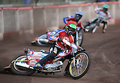 Heat 3 - Kasprzak (red), Lanham (blue), Richardson (green) - Lakeside Hammers vs Swindon Robins - Sky Sports Elite League at Arena Essex, Purfleet - 17/08/07  - MANDATORY CREDIT: Gavin Ellis/TGSPHOTO - SELF-BILLING APPLIES WHERE APPROPRIATE. NO UNPAID USE. TEL: 0845 094 6026..