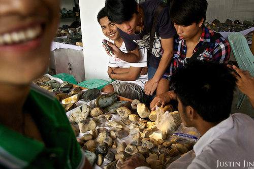 At the jade market in Ruili, which sells the precious stone imported from Myanmar.