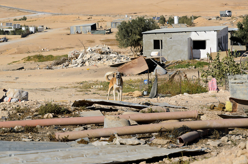 El Serah, an unrecognized village in Israel's Negev desert, receives no public services, from electric to water to trash pick-up. Electricity comes from solar panels and a shared generator; water is piped overground from 3 km outside the village; internet is relayed wirelessly from another village.