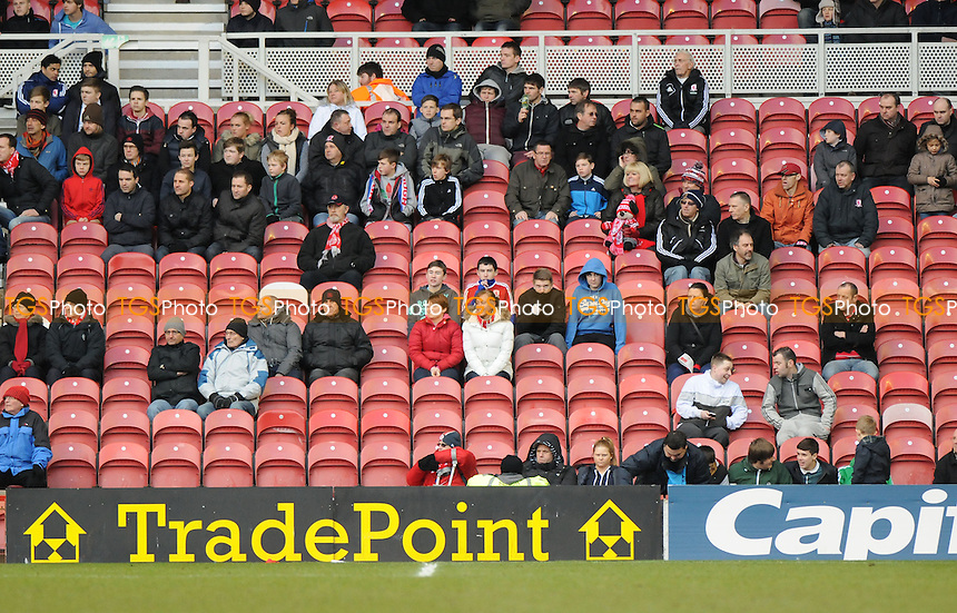 Empty seats at Middlesbrough's Riverside Stadium - Middlesbrough vs Birmingham City - NPower Championship Football at the Riverside Stadium, Middlesbrough - 16/03/13 - MANDATORY CREDIT: Steven White/TGSPHOTO - Self billing applies where appropriate - 0845 094 6026 - contact@tgsphoto.co.uk - NO UNPAID USE.