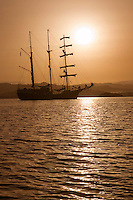Hebrides, Scotland, May 2010. Dutch Tallship Thalassa sails between the islands along the Scotish west coast in search of the quality single malt whisky that is produced by the many distilleries. Photo by Frits Meyst/Adventure4ever.com