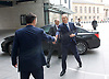 Andrew Marr Show <br /> arrivals <br /> BBC, Broadcasting House, London, Great Britain <br /> 19th March 2017 <br /> <br /> Tony Blair <br /> ex-Prime Minister arriving for the Andrew Marr Show shaking hands with the editor <br /> <br /> Photograph by Elliott Franks <br /> Image licensed to Elliott Franks Photography Services