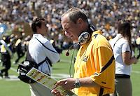 Defensive Coordinator Clancy Pendergast. The University of California Berkeley Golden Bears defeated the UC Davis Aggies 52-3 in their home opener at Memorial Stadium in Berkeley, California on September 4th, 2010.