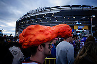 Fans exit the stadium after the NFL game of Buffalo Bills against New York Jets at MetLife Stadium in New Jersey. 09.05.2014. VIEWpress