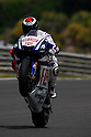 May 2, 2010 - Jerez, Spain -  Fiat Yamaha team's Spanish Jorge Lorenzo powers their bikes during the MotoGP race at Circuito de Jerez on May 2, 2010 in Jerez de la Frontera, Spain. (Photo Andrew Northcott/Nippon News).