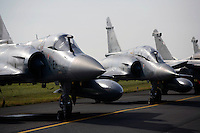 French Mirage fighters on static display at Rygge Airshow. Norway