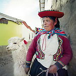 Indigenous Quechua people in the Sacred Valley of the Incas, Peru