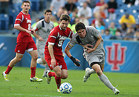 HOOVER, AL - DECEMBER 09, 2012: Matt McKain (5) of Indiana University goes for a loose ball with Andy Riemer (20) of Georgetown University during the NCAA 2012 Men's College Cup championship, at Regions Park, in Hoover , AL, on Sunday, December 09, 2012.
