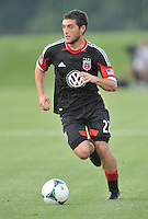 Chris Korb (22) of D.C. United during the game. D.C. United defeated the The New England Revolution 3-1 in the Quarterfinals of Lamar Hunt U.S. Open Cup, at the Maryland SoccerPlex, Tuesday June 26 , 2013.