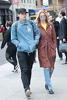 NEW YORK, NY - MAY 12: Julian Herrera and Hailey Clauson seen on May 12, 2017 in New York City. Credit: DC/Media Punch