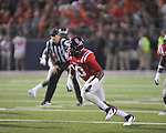 Ole Miss defensive end C.J. Johnson (10) vs. Texas at Vaught-Hemingway Stadium in Oxford, Miss. on Saturday, September 15, 2012. Texas won 66-21. Ole Miss falls to 2-1.
