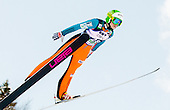 ROGELJ Spela of Slovenia competes during 11th Women FIS Ski Jumping World Cup competition in Planica replacing Ljubno  on January 25, 2014 at HS95, Planica, Slovenia. Photo by Vid Ponikvar / Sportida