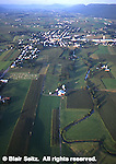 Aerial, Big Valley, Mifflin Co., PA Farms and Housing Development Aerial Photograph Pennsylvania