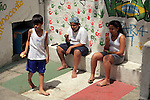 South America, Brazil. Rio de Janiero. Kids at Para Ti school in Favela of Vila Canoas.