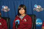 08 December 2007: Mami Yamaguchi (JPN). The Florida State University Seminoles held a press conference at the Aggie Soccer Stadium in College Station, Texas one day before playing in the NCAA Division I Womens College Cup championship game.