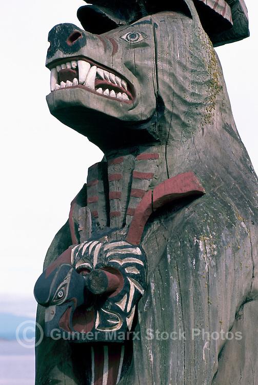 Bear Totem Pole Bear Totem Pole Vis 1247 Jpg
