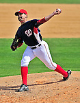 8 March 2010: Washington Nationals' pitcher Jesse English on the mound during a Spring Training game against the Florida Marlins at Space Coast Stadium in Viera, Florida. The Marlins defeated the Nationals 12-2 in Grapefruit League action. Mandatory Credit: Ed Wolfstein Photo