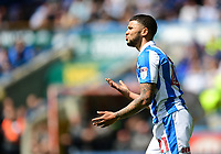 Huddersfield Town's Nahki Wells reacts after he was ruled offside<br /> <br /> Photographer Chris Vaughan/CameraSport<br /> <br /> The EFL Sky Bet Championship Play-Off Semi Final First Leg - Huddersfield Town v Sheffield Wednesday - Saturday 13th May 2017 - The John Smith's Stadium - Huddersfield<br /> <br /> World Copyright &copy; 2017 CameraSport. All rights reserved. 43 Linden Ave. Countesthorpe. Leicester. England. LE8 5PG - Tel: +44 (0) 116 277 4147 - admin@camerasport.com - www.camerasport.com