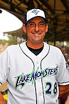 24 June 2008: Vermont Lake Monsters Pitching Coach Rusty Meacham. Baseball Card Image for 2008. For in-house use by the Vermont Lake Monsters Only. Editorial or other use of images by other publications or media outlets must secure licensing from the photographer Ed Wolfstein prior to publication, and is based on standards of circulation, and placement in a given publication...Mandatory Credit: Ed Wolfstein.