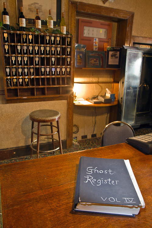 "The ""Ghost Registry"" at the Copper Queen Hotel in Bisbee, Arizona"