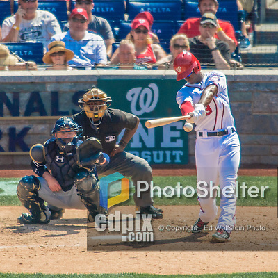 24 July 2016: Washington Nationals outfielder Michael Taylor in action against the San Diego Padres at Nationals Park in Washington, DC. The Padres defeated the Nationals 10-6 to take the rubber match of their 3-game, weekend series. Mandatory Credit: Ed Wolfstein Photo *** RAW (NEF) Image File Available ***