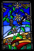 Hope, Stain Glass Window, New Zealand<br />
