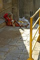 an old women at the Banganga area, Mumbai,India