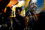 Revelers celebrate the re-election of President Barack Obama outside of Ben's Chili Bowl on U Street in Washington D.C. on Nov. 6, 2012.