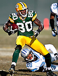 .Green Bay Packers' Donald Driver looks up field on a 16-yard catch from Aaron Rodgers in the 1st quarter. .The Green Bay Packers hosted the Detroit Lions at Lambeau Field Sunday, December 28, 2008. Steve Apps-State Journal.