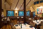 Milne Bay, Papua New Guinea; Tawali Resort, views of dining room , Copyright © Matthew Meier, matthewmeierphoto.com