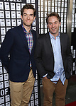 John Mulaney and Mike Birbiglia attend the Opening Night 'In & Of Itself' at the Daryl Roth Theatre on April 12, 2017 in New York City