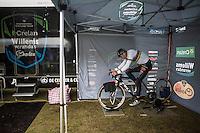 Wout Van Aert (BEL/Crelan-Willems) warming up before the race<br /> <br /> Krawatencross Lille 2017