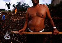 slash and burn agriculture outside Linden, Guyana