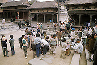 February 1975, Pokhara area, Nepal. Daily life. School children.