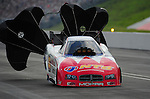Jun. 18, 2011; Bristol, TN, USA: NHRA funny car driver Johnny Gray during qualifying for the Thunder Valley Nationals at Bristol Dragway. Mandatory Credit: Mark J. Rebilas-