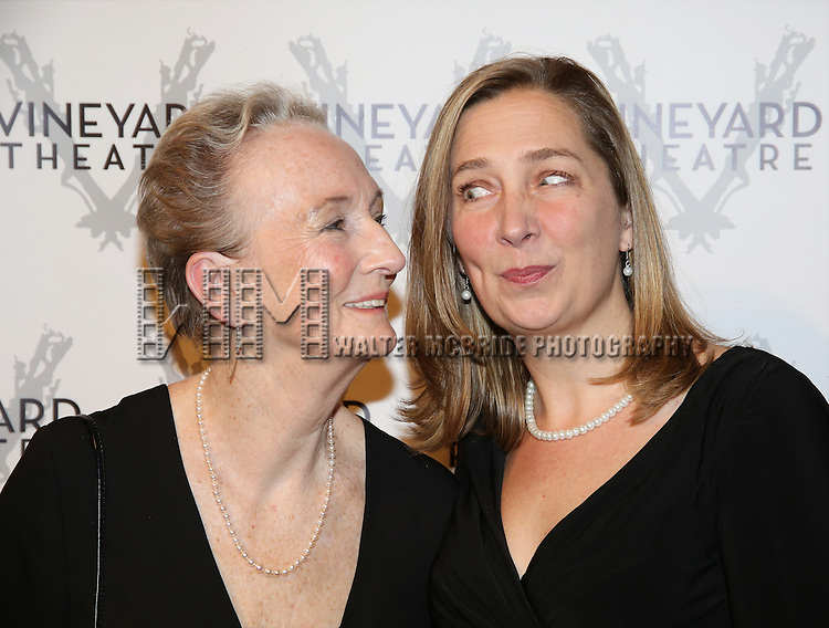 Kathleen Chalfant and Jennifer Garvey Blackwell attends the cocktail party for the Vineyard Theatre 2016 Gala at the Edison Ballroom on March 14, 2016 in New York City.