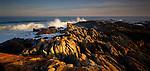 Sunset on coastline at Cape Conran. Victoria Region. Australia.