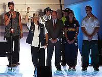 CALI - COLOMBIA - 04-08-2013: Ron Froehlich, Presidente de la IWGA se dirije a los asistentes durante de la Ceremonia de Clausura de los IX juegos Mundiales de Cali, en el estadio Pascual Guerrero de la ciudad de Cali, agosto 4 de 2013. (Foto: VizzorImage / Juan Carlos Quintero / Str.) Ron Froehlich, Presidente de la IWGA speaks to the public during the Closing Ceremony of the IX World Games Cali in the Pascual Guerrero stadium in Cali, Augusts, 2013. (Photo: VizzorImage / Juan Carlos Quintero / Str.)