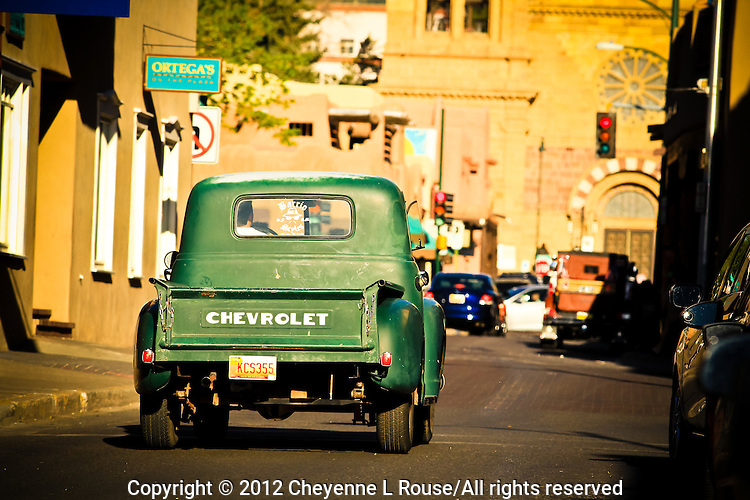 Rush Hour - Santa Fe, New Mexico - Chevy Truck