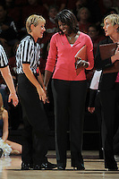 STANFORD, CA - FEBRUARY 14:  Assistant coach Bobbie Kelsey of the Stanford Cardinal during Stanford's 58-41 win against the California Golden Bears on February 14, 2009 at Maples Pavilion in Stanford, California.