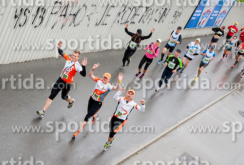 Runners during running race Tek trojk et event Pot ob zici, on May 11, 2013, in Ljubljana, Slovenia. (Photo By Vid Ponikvar / Sportida.com)
