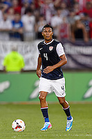 United States defender Michael Orozco (4). The United States defeated Costa Rica 1-0 during a CONCACAF Gold Cup group B match at Rentschler Field in East Hartford, CT, on July 16, 2013.