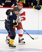 Candace Kourounis (Windsor - 9), ? - The Boston University Terriers defeated the visiting University of Windsor Lancers 4-1 in a Saturday afternoon, September 25, 2010, exhibition game at Walter Brown Arena in Boston, MA.