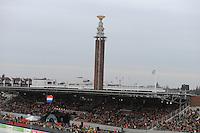 SCHAATSEN: AMSTERDAM: Olympisch Stadion, 28-02-2014, KPN NK Sprint/Allround, Coolste Baan van Nederland, overzicht, Marathontoren, ©foto Martin de Jong