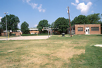 1997 August 12..Assisted Housing..Calvert Square..RENOVATIONS.BEFORE LEFTSIDE REC CENTER.ADDITIONS FROM ATHLETIC FIELD...NEG#.NRHA#..