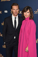 Benedict Cumberbatch and wife Sophie Hunter <br /> 'Doctor Strange'  film screening event Marvel Studios in partnership with GQ at Westminster Abbey, London, England on October 24, 2016.<br /> CAP/PL<br /> &copy;Phil Loftus/Capital Pictures /MediaPunch ***NORTH AND SOUTH AMERICAS ONLY***