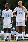 12 September 2009: North Carolina's Nikki Washington (26) and Kristi Eveland (32). The University of North Carolina Tar Heels defeated the Texas A&M University Aggies 2-0 at Fetzer Field in Chapel Hill, North Carolina in an NCAA Division I Women's college soccer game.