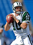 30 September 2007: New York Jets quarterback Chad Pennington warms up prior to facing the Buffalo Bills at Ralph Wilson Stadium in Orchard Park, NY. The Bills defeated the Jets 17-14 handing the Jets their third loss of the season...Mandatory Photo Credit: Ed Wolfstein Photo for UPI